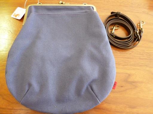 6寸帆布がま口ショルダーバッグ外ポケット付きをカバンハウスで買いました~