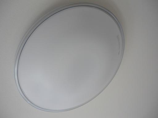 まわりに透明な縁取りのあるデザインのシーリングライト