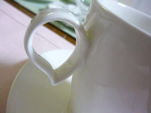 持ちやすいカップの持ち手・・・・