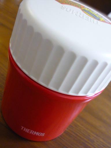 THERMOS(サーモス)の真空断熱フードコンテナー、私はトマト色