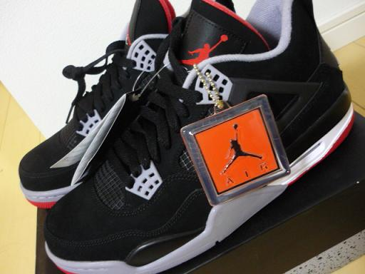 official photos 214d0 db0fa AIR JORDAN 4 RETRO BLACK CEMENT GREY-FIRE RED   エア ジョーダン 4 ...