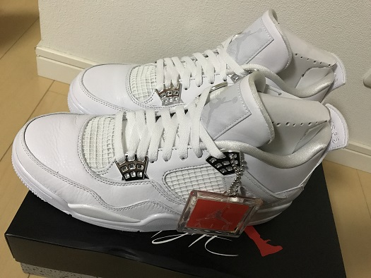 NIKE AIR JORDAN 4 RETRO  (WHITE/METALLIC SILVER-PURE PLATINUM)  (ナイキ エア ジョーダン 4 レトロ)