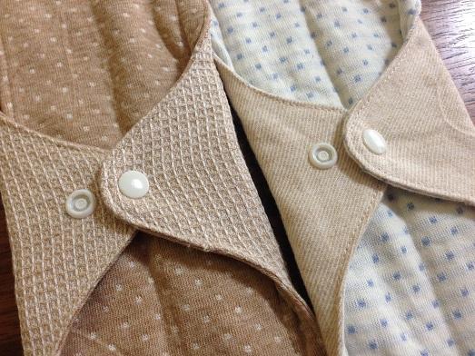 オーガニックコットンのミュッターよりライナータイプの布ナプキンロングサイズ(一体型)を通販しました