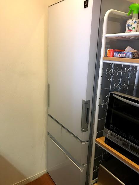 我が家の冷蔵庫定位置ココ